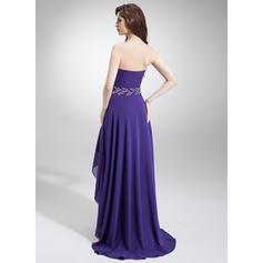 Gasa Glamuroso Corte A/Princesa Asimétrico Vestidos de baile de promoción (018022777)