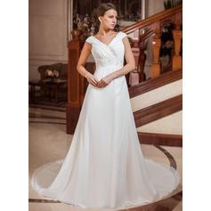 General Grande Corazón Corte A/Princesa - Gasa Vestidos de novia (002211288)