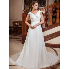 General Plus Sweetheart A-Line/Princess - Chiffon Wedding Dresses (002211288)