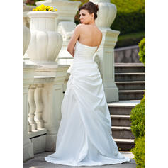 a line chiffon wedding dresses