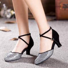Donna Sala da ballo Tacchi Similpelle Glitter scintillanti Scarpe da ballo