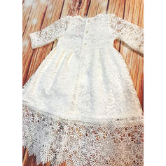 A-Line/Princess Scoop Neck Floor-length Lace Christening Gowns (2001217989)