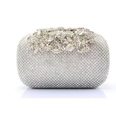 Clutches/Wristlets Wedding/Ceremony & Party/Casual & Shopping Crystal/ Rhinestone Clip Closure Charming Clutches & Evening Bags