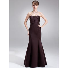 Trumpet/Mermaid Sweetheart Floor-Length Bridesmaid Dresses With Ruffle (007001866)