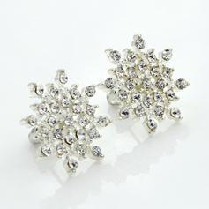 Earrings Alloy/Rhinestones Pierced Ladies' Shining Wedding & Party Jewelry