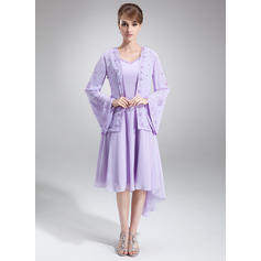 Modern Asymmetrical A-Line/Princess Chiffon Mother of the Bride Dresses (008211190)