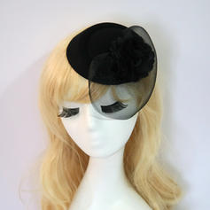 Net Yarn/Silk Flower With Silk Flower Fascinators Elegant/Charming Ladies' Hats