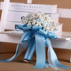 "Bridal Bouquets Round Wedding Satin 9.06""(Approx.23cm) Wedding Flowers"