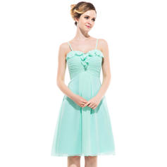 Knee-Length Empire Sleeveless Chiffon Bridesmaid Dresses