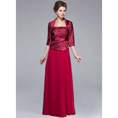 Sheath/Column Sweetheart Floor-Length Mother of the Bride Dresses With Ruffle Beading