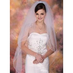 Yema del dedo velos de novia Tul Dos capas Estilo clásico con Lápiz Velos de novia