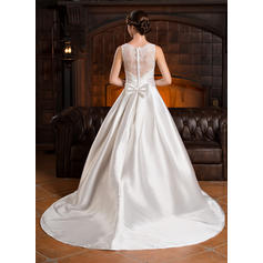 flattering wedding dresses for small bust