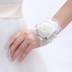 Wrist Corsage Round Wedding/Party Artificial Silk Color & Style representation may vary by monitor/Not responsible for typographical or pictorial errors. Wedding Flowers