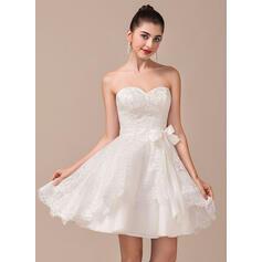 simple flowing chiffon beach wedding dresses