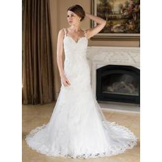 una línea de vestidos de novia cortos