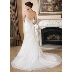 pluss størrelse høyt lavt brudekjoler