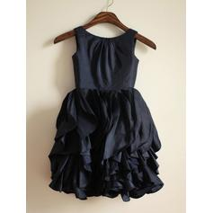 Sweetheart Tea-length A-Line/Princess Flower Girl Dresses Scoop Neck Taffeta Sleeveless