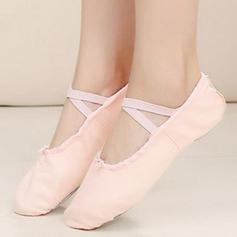Frauen Ballett Flache Schuhe Absatzschuhe Stoff Tanzschuhe