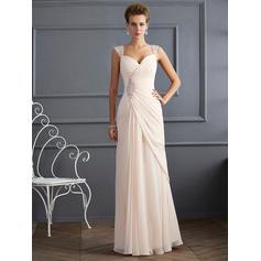 Sheath/Column Stunning Sleeveless Prom Dresses