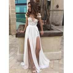 Sexy A-Line/Princess With Chiffon Wedding Dresses (002144815)