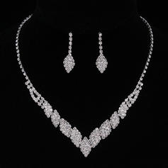 Sistemas de la joyería Aleación/Diamantes de imitación Corchete de la langosta Perforado Señoras' Joyas de boda & fiesta