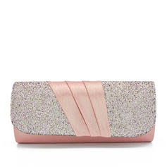 Clutches/Bridal Purse Wedding/Ceremony & Party Silk/Sequin/Composites Snap Closure/Magnetic Closure Elegant Clutches & Evening Bags