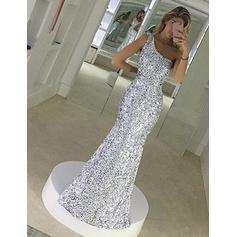 Trumpet/Mermaid One-Shoulder Floor-Length Prom Dresses