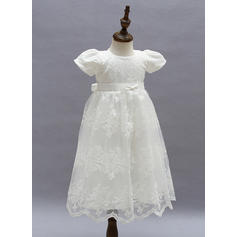 A-Line/Princess Scoop Neck Ankle-length Lace Christening Gowns (2001216780)