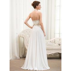 halter top wedding dresses for bride