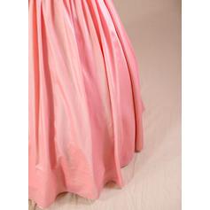 Robe Marquise Longueur ras du sol Robes à Fleurs pour Filles - Taffeta Sans manches Bretelles avec Brodé (jupons NON inclus) (010094147)