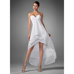 A-Line/Princess Chiffon Prom Dresses Flattering Asymmetrical Sweetheart Sleeveless
