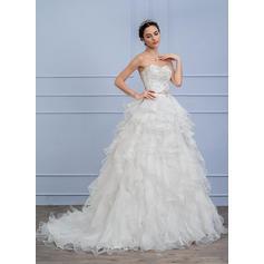 satin wedding dresses with sleeves uk