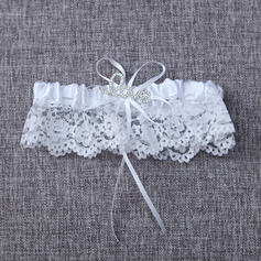 Garters Women/Bridal Wedding/Special Occasion Lace With Bowknot/Rhinestone Garter