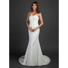 Lace Sweetheart Sleeveless - Luxurious Wedding Dresses