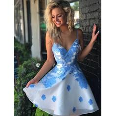 Appliques A-Line/Princess Short/Mini Chiffon Homecoming Dresses
