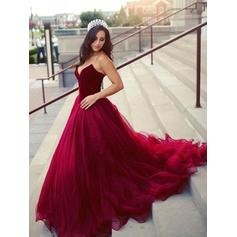 Ball-Gown Sweetheart Court Train Prom Dresses (018218080)