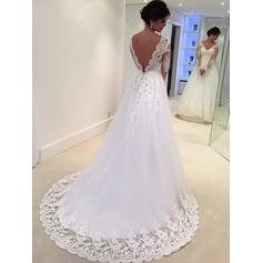 long sleeve wedding dresses mermaid