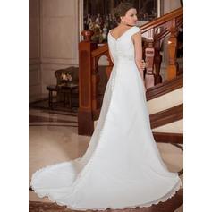 Elegantes vestidos de novia de tren largo
