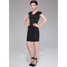 long sleeve tea length cocktail dresses