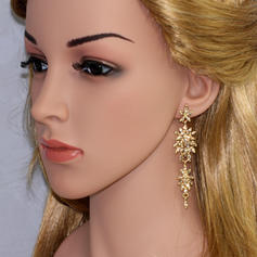 Earrings Alloy/Rhinestones Pierced Ladies' Gorgeous Wedding & Party Jewelry