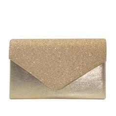 Elegante Veludo/Lantejoulas/Espumante Glitter Embreagens/Embreagens de Luxo