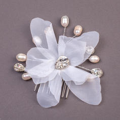 "Combs & Barrettes Wedding/Special Occasion/Party Imitation Pearls/Net Yarn 7.09""(Approx.18cm) 0.78""(Approx.2cm) Headpieces"