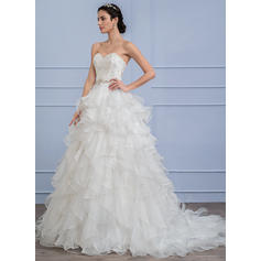satin wedding dresses with long sleeves