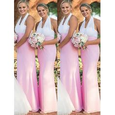 Sheath/Column Halter - Chiffon Bridesmaid Dresses