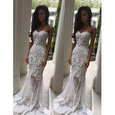 Trumpet/Mermaid Sweetheart Sweep Train Wedding Dresses