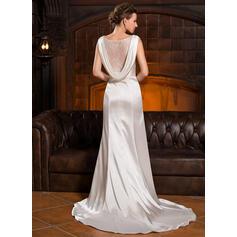 robes de mariée en mousseline à manches longues