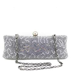 """Clutches Ceremony & Party Sequin Attractive 9.45""""(Approx.24cm) Clutches & Evening Bags"""