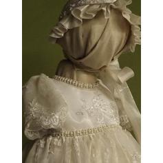 Dentelle Col rond Brodé Robes de baptême bébé fille avec 1/2 manches (2001217396)