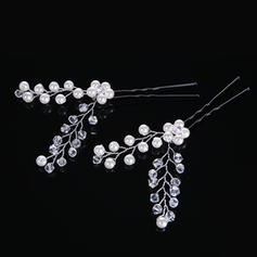 "Hairpins Wedding/Special Occasion Crystal/Rhinestone/Imitation Pearls 1.57""(Approx.4cm) 2.76""(Approx.7cm) Headpieces"