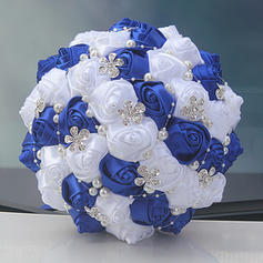"Bridal Bouquets Round Wedding/Party Satin 8.27""(Approx.21cm) Wedding Flowers"